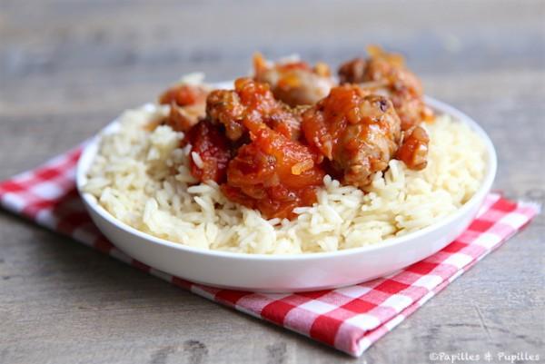 Rougail de salchicha y arroz