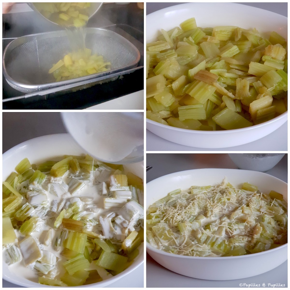 Preparación del gratinado