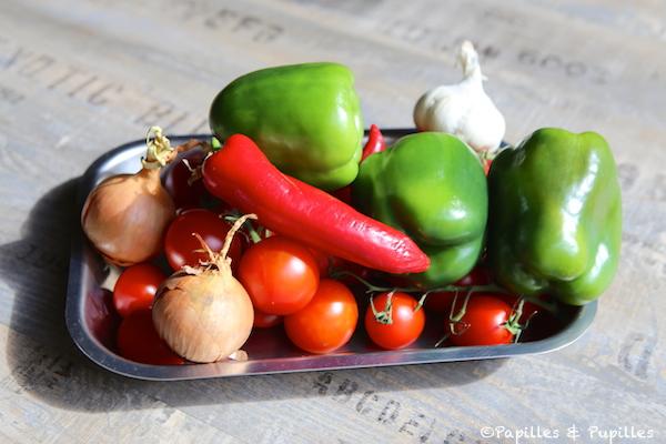 Ingredientes para Piperade