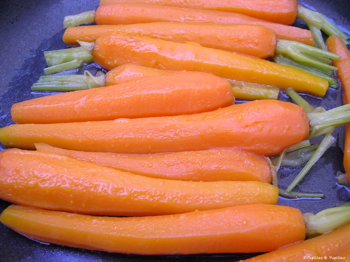 Nuevas zanahorias glaseadas estilo Joël Robuchon